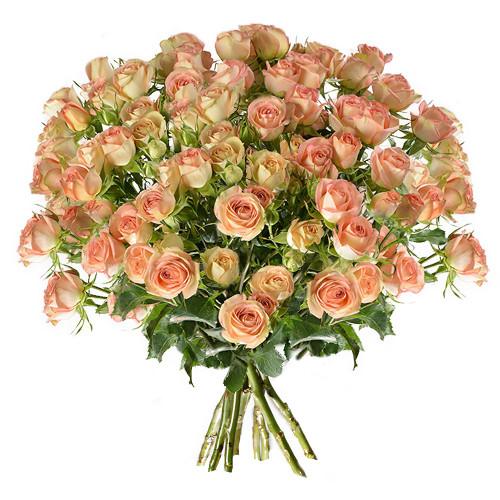 Bouquet de roses ROSES BRANCHUES SAUMON