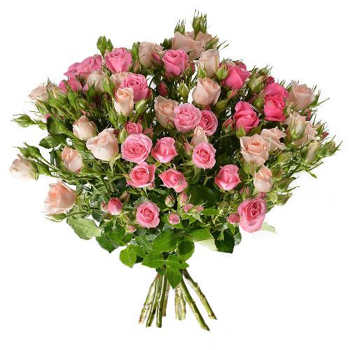 Bouquet de roses ROSES BRANCHUES CAMAIEU ROSE