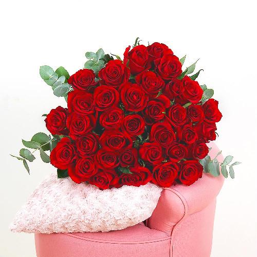 Bouquet de roses 6 GRANDES ROSES ROUGES