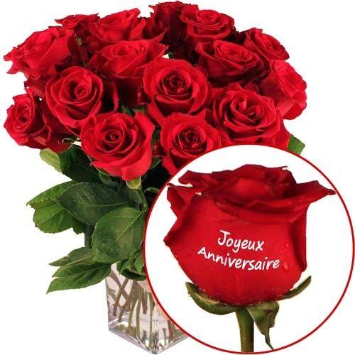 Roses Marquees Joyeux Anniversaire Livraison Express Florajet
