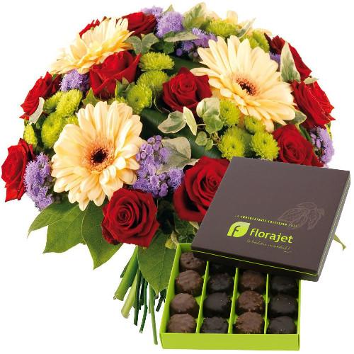livraison express fleurs et chocolats macaron florajet. Black Bedroom Furniture Sets. Home Design Ideas