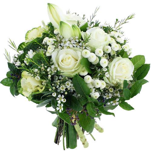 Bouquet rond BOULE DE NEIGE