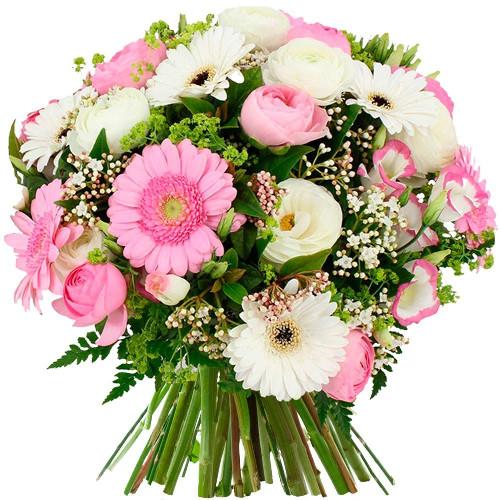 Bouquet rond ROSEE DU MATIN