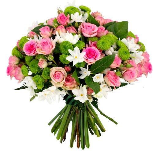 Bouquet rond NATURE ROSE