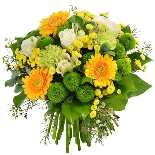 Bouquet rond COUCHER DE SOLEIL