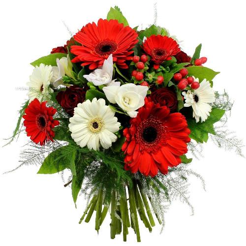 Bouquet rond PURETE ECARLATE