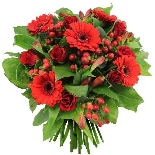 Bouquet rond TI AMO