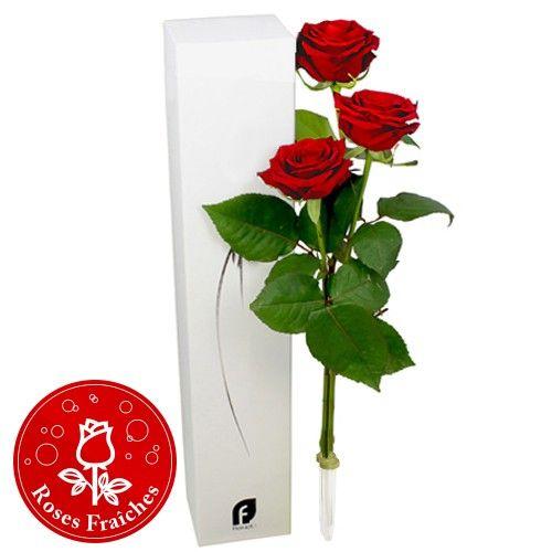 Bouquet de roses TRIO DE ROSES ROUGES